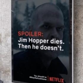 Netflix affichera des spoilers à tous ceux qui ne restent pas confinés