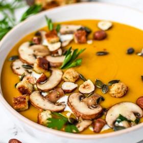 La recette de velouté potimarron et lentilles corail au curry