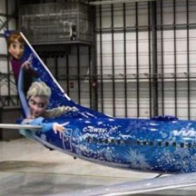 """Un avion tout entier sur le thème """"La Reine des Neiges"""""""