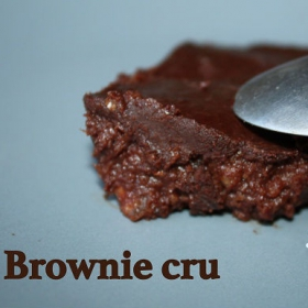 Ma recette de brownie sans cuisson et vegan, sans gluten ni lactose
