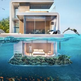 Des appartements flottants spectaculaires avec des chambres sous l'eau à Dubaï