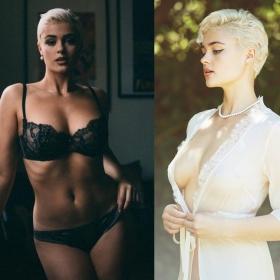 Cette femme contredit tous les stéréotypes du monde la mode avec sa silhouette pulpeuse et magnifique