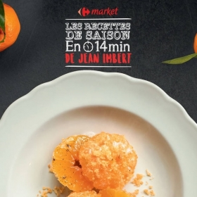La recette gourmande de Clémentines en crumble de Jean Imbert