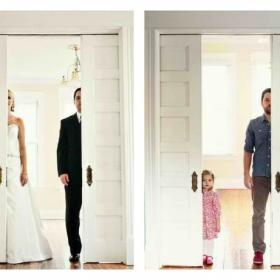 Cet homme a refait ses photos de mariage avec sa petite fille après le décès de sa femme... et elles sont magnifiques