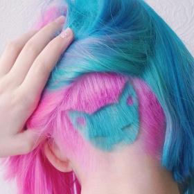 Les amoureuses des chats et des cheveux arc-en-ciel vont adorer cette nouvelle coiffure