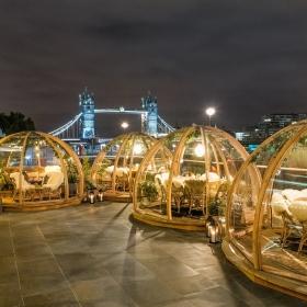 Des bulles chauffées et cosy pour manger dehors en plein hiver à Londres