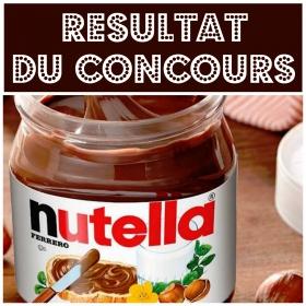 Résultat du concours pour gagner 10 barquettes de Nutella