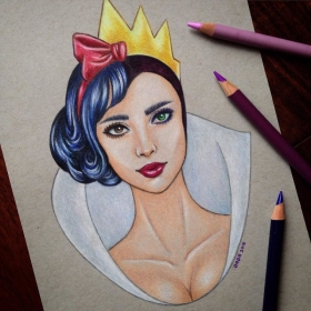Cet artiste mêle les visages des héros et des méchants Disney