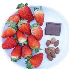 Ces deux photos montrent à quoi ressemble un dessert équilibré de 165 calories