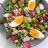 La recette de la salade d'asperges, coppa et parmesan pour...