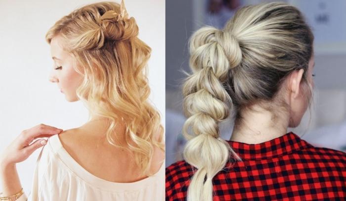 12 jolies idées de coiffures pour cheveux mi-longs