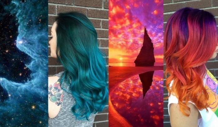 La tendance coiffure Galaxy Hair pour des cheveux aux couleurs de l'espace