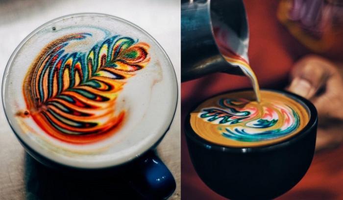 Il sert les plus jolis cafés au monde grâce à des motifs colorés incroyables