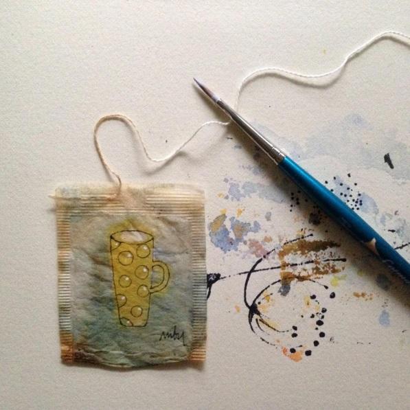 Elle dessine sur des sachets de thé usagés et le résultat est magnifique | #10