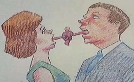 Bill Plympton, How To Kiss (court métrage), 1988