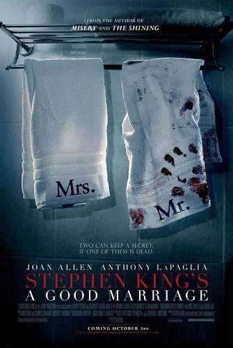 a good marriage poster 2 Une nouvelle de Stephen King adaptée au cinéma : Bon ménage