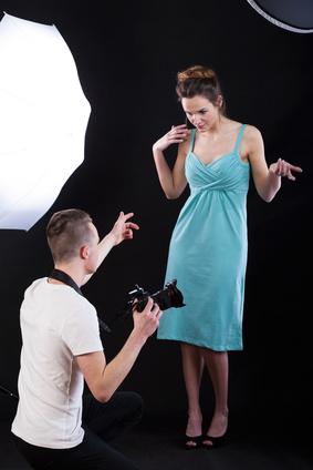 Backstage of photo shooting