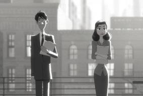 homme-et-femme-qui-attendent-le-bus-walt-disney-dessin-anime