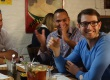 Learn a language_Ed at restaurant with friends-