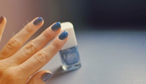 vernis bleu kure bazaar stone wash swatch