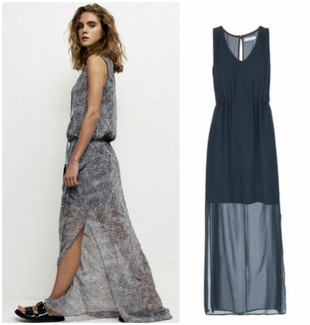 61905f84f4592 Robe longue imprimé (Grace & Mila, 69€) / Robe longue noire (SamsoeSamsoe,  99€)