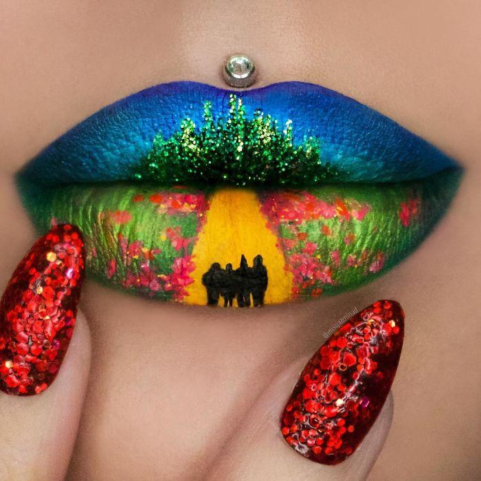 Cette make-up artiste transforme ses lèvres en véritables oeuvres d'art | #10