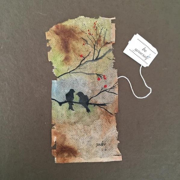 Elle dessine sur des sachets de thé usagés et le résultat est magnifique | #6
