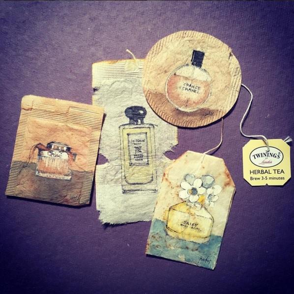 Elle dessine sur des sachets de thé usagés et le résultat est magnifique | #5