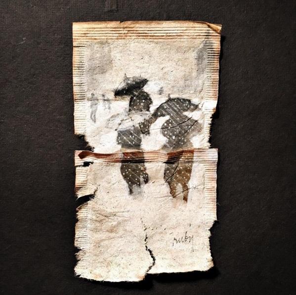 Elle dessine sur des sachets de thé usagés et le résultat est magnifique | #13