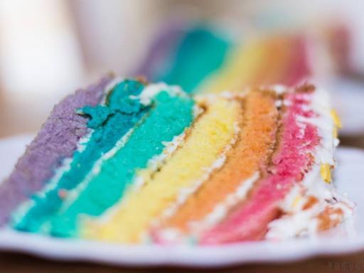 Glacage Mascarpone Chocolat Blanc Rainbow Cake
