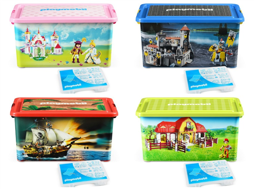concours 4 bo tes de rangement playmobil xl ferme. Black Bedroom Furniture Sets. Home Design Ideas