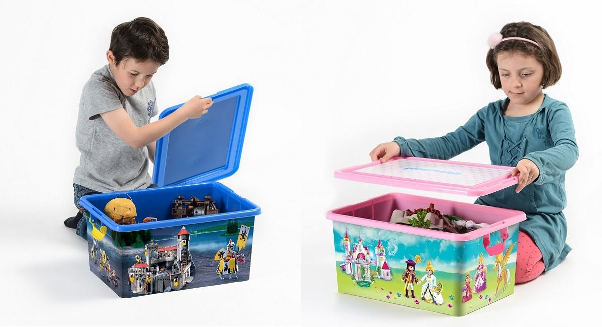 Boite De Rangement Playmobil concours : 4 boîtes de rangement playmobil xl ferme, pirates