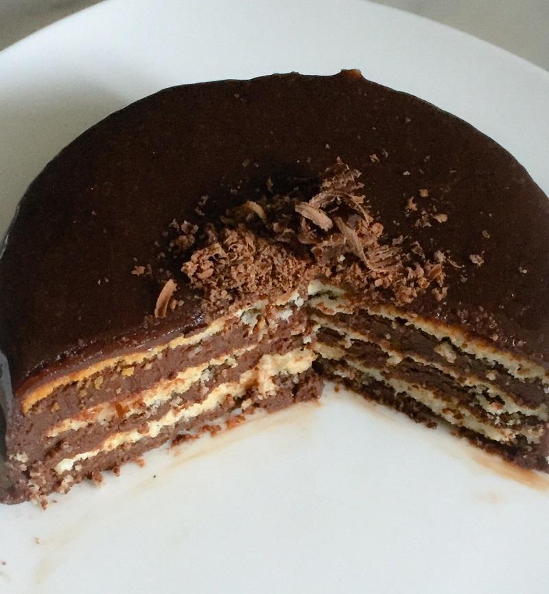 entremet noisette chocolat 2