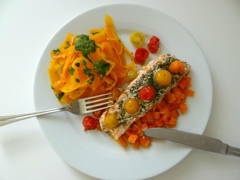 recette-saumon-papillote-tagliatelles-butternut-carottes-3