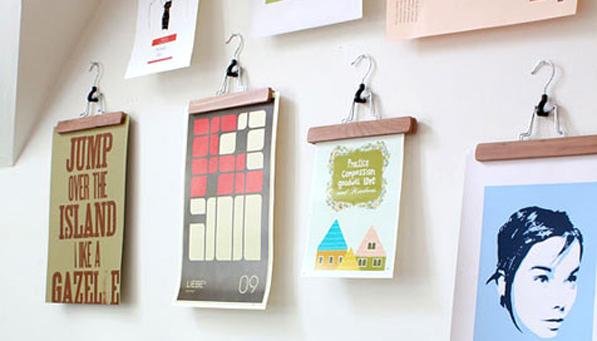 accrocher-photos-au-mur-avec-des-cintres