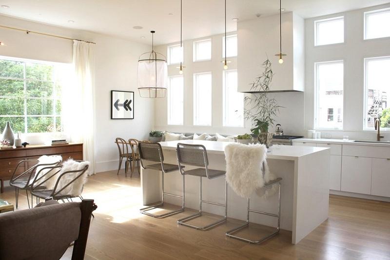 cuisine-ouverte-blanche-moderne