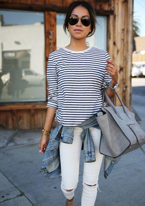 comment-porter-des-rayures-t-shirt-raye-mariniere-femme-lunettes-soleil