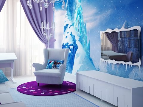 cette chambre la reine des neiges est tellement belle qu. Black Bedroom Furniture Sets. Home Design Ideas
