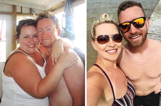 avant-apres-perte-de-poids-couple