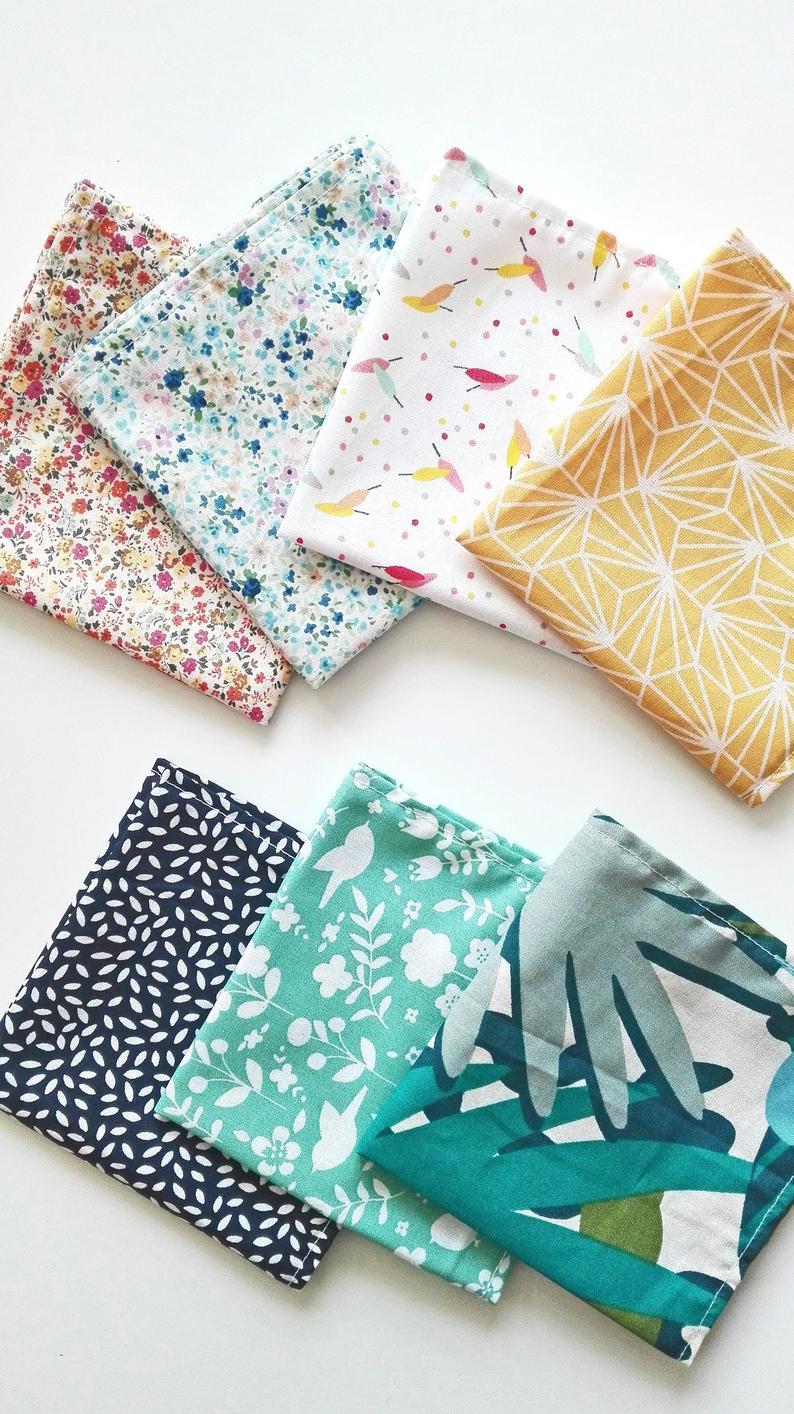 mouchoirs-en-tissu-colores-