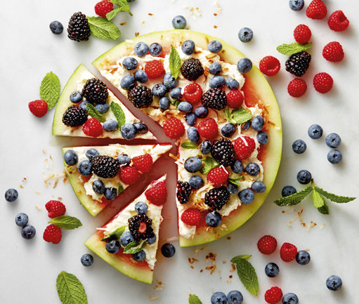 pizza-pasteque-fruits-rouges-framboises-myrtilles