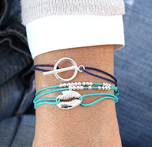 bracelet-cordon-coquillage-argent