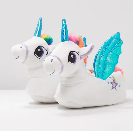 chaussons-licorne-bleu