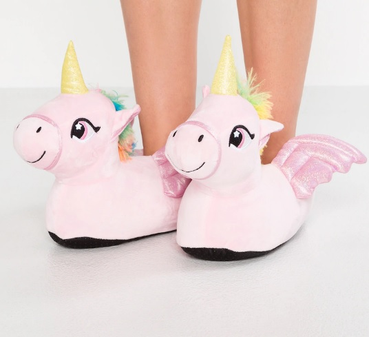 chaussons-licorne-rose