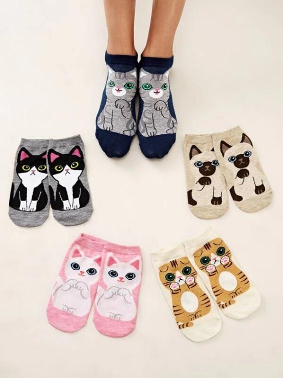 chaussettes-motif-chat