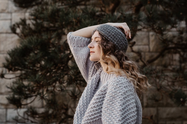pull-fait-main-laine-merinos-bandeau-tricot