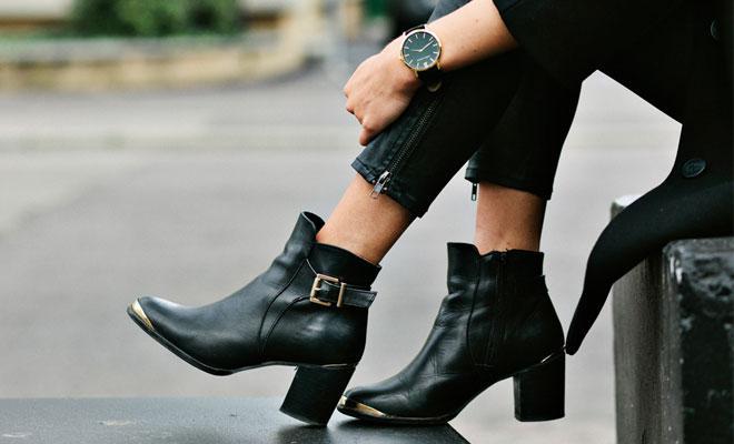 bottines-noires-cuir-femme