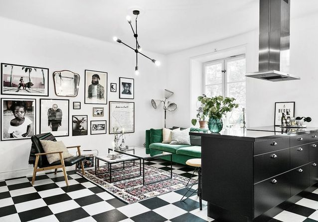 decoration-sol-carrelage-damier-noir-et-blanc