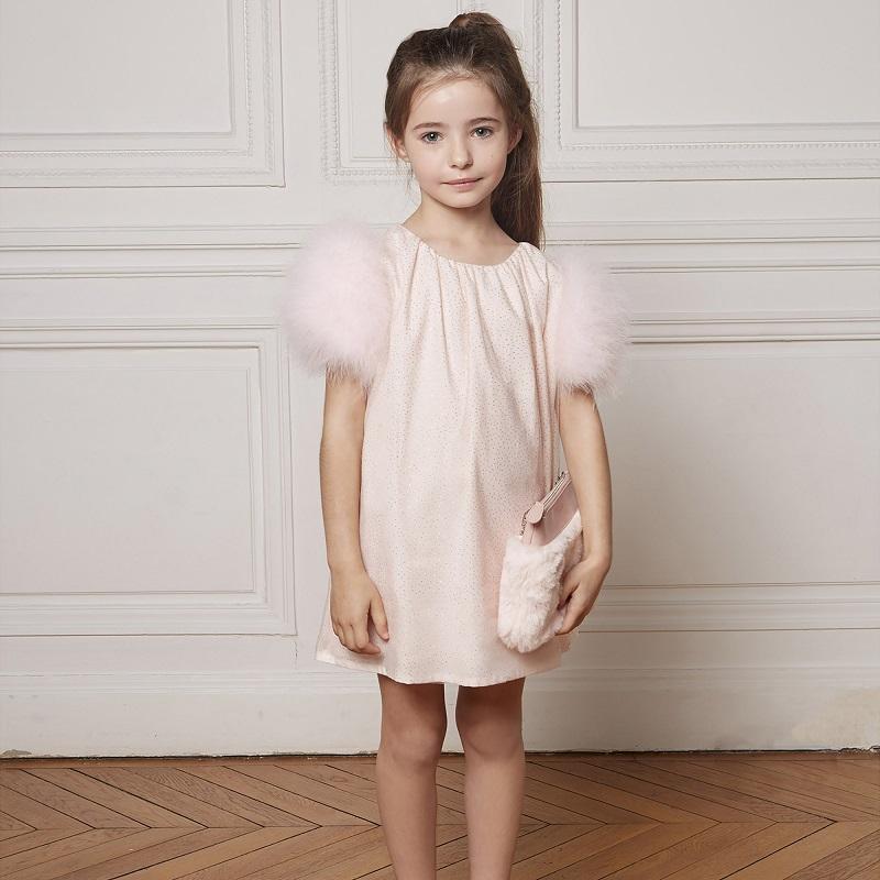 robe-tulle-rose-fille