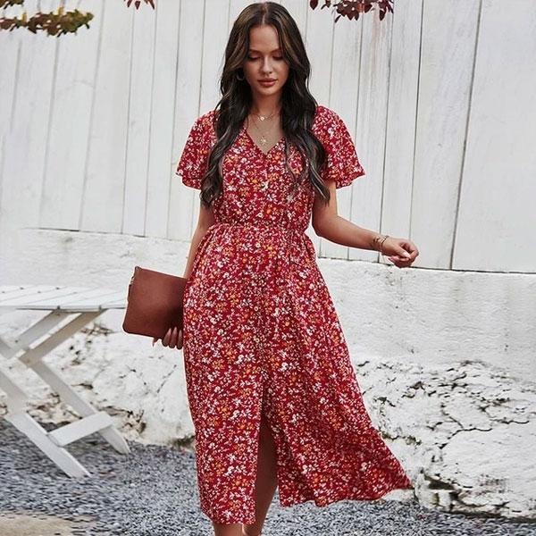 robe-fleurs-rouge-blanche